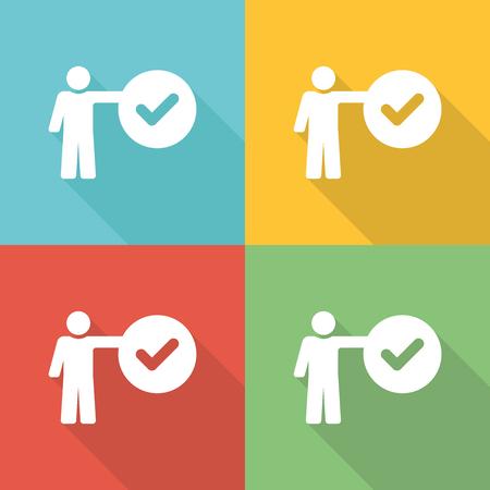 edicto: Criteria Flat Icon Concept Vectores