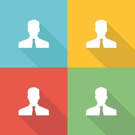 job satisfaction: Employee Flat Icon Concept