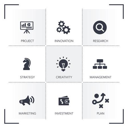 smart goals: BUSINESS DEVELOPMENT ICON SET