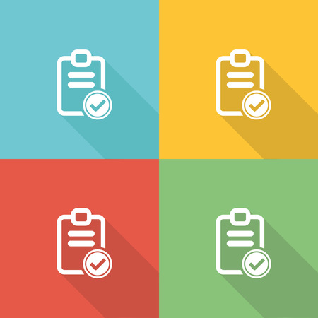 edicto: Lista de Criterios Flat Icon Concept Vectores