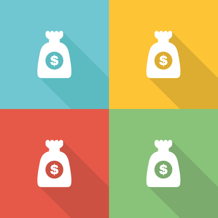 low price: Cost Flat Icon Concept