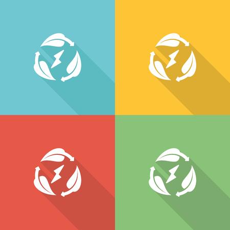 Sustainability Flat Icon Concept