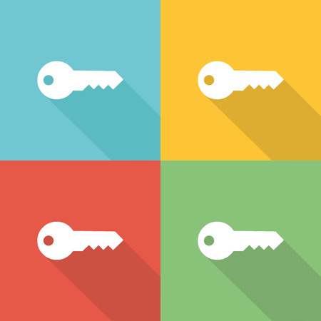 Keywords Flat Icon Concept Illustration