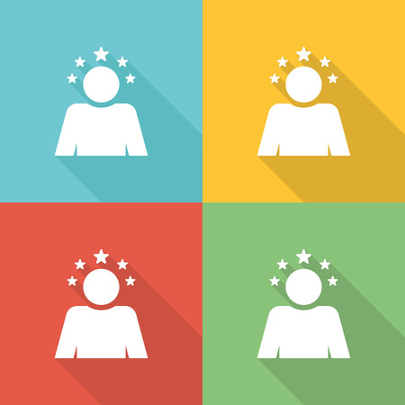 new opportunity: Optimistic Flat Icon Concept Illustration
