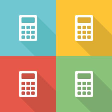borrowing money: Interest Calculation Flat Icon Concept Illustration