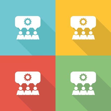 teamwork: Teamwork Flat Icon Concept