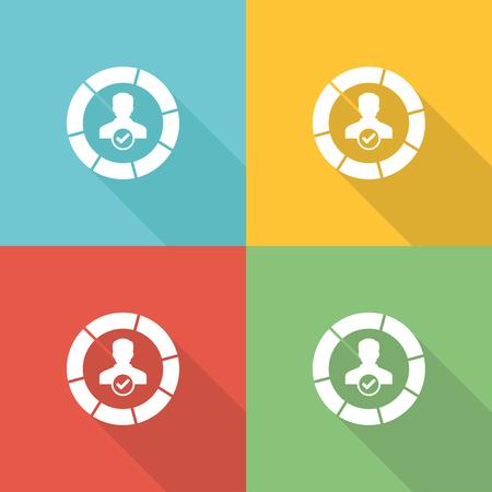 Skills Flat Icon Concept