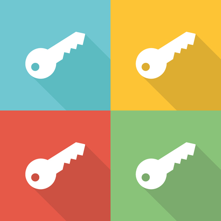 Key Flat Icon Concept Illustration