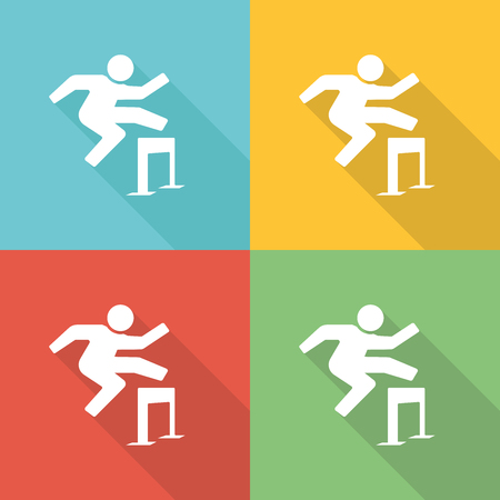 overcoming adversity: Overcome Flat Icon Concept