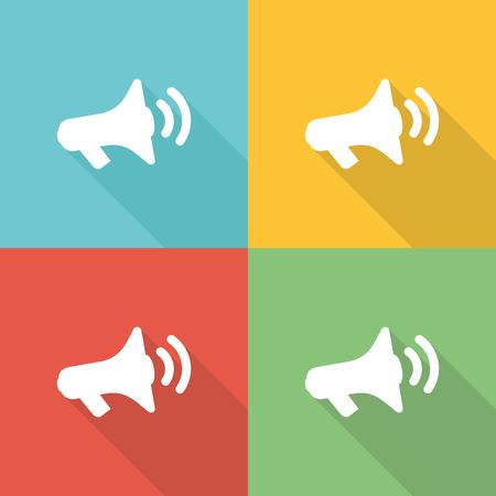 Promotie platte pictogram concept