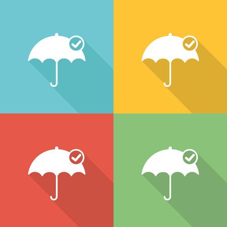Risk Management Flat Icon Concept