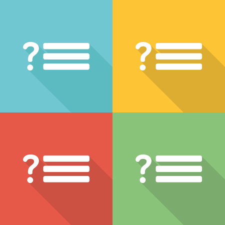 response: Response Flat Icon Concept Illustration