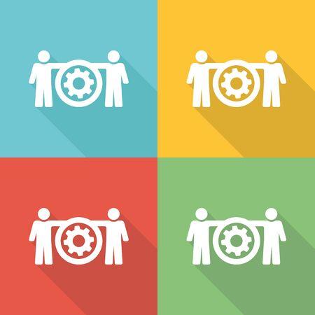 smart goals: Productivity Flat Icon Concept Illustration