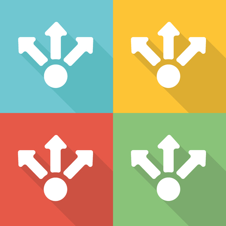 Share Flat Icon Concept