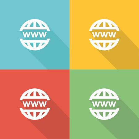 Web Flat Icon Concept