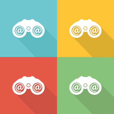 Search Flat Icon Concept Illustration