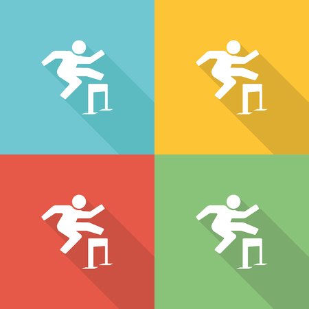 congress center: Training Flat Icon Concept Illustration