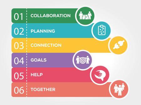 teamwork: Teamwork Infographic Concept