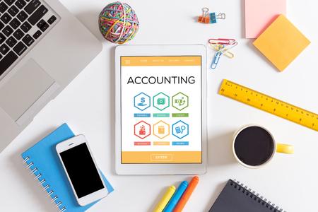 payable: Accounting Payable Savings Credit Revenue Word With Icons