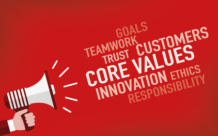 Core Values Concept Illustration