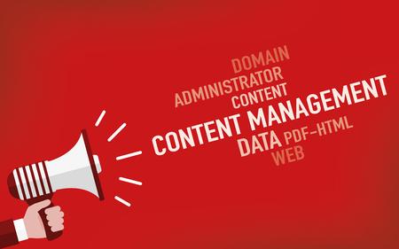 Content Management Concept Illustration