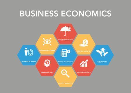 busness: Bus?ness Econom?c Icon Concept