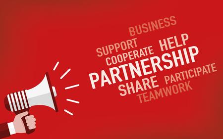 companionship: Partnership Concept Illustration