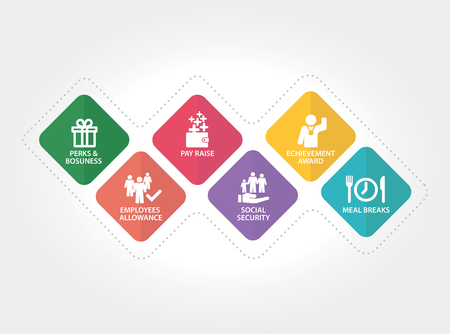 従業員利益概念  イラスト・ベクター素材