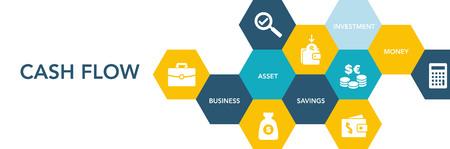 Cash Flow Icon Concept Illustration