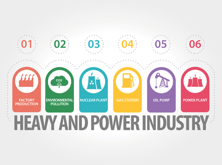 oil and gas industry: HEAVY AND POWER INDUSTRY CONCEPT