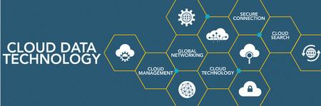 Technologie Cloud Data Concept Icône