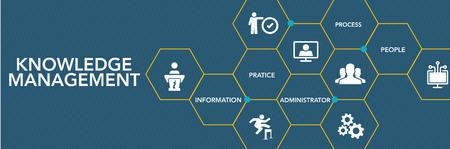 Knowledge Management Icon Concept