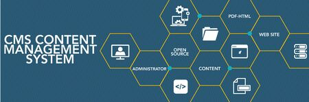 CMS Content Management System Icon Concept Illustration