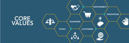 charter: Core Values Icon Concept
