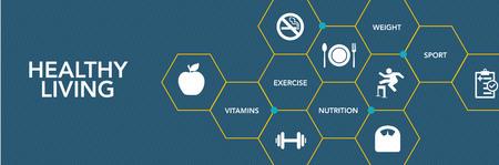 Healthy Lıvıng Icon Concept