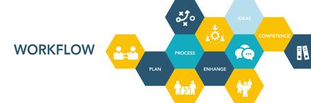 Workflow Icon Concept Stockfoto - 75751212