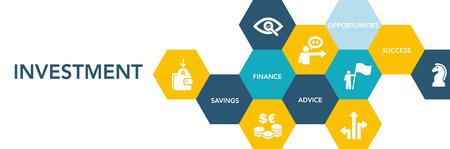 Investment Icon Concept Illusztráció