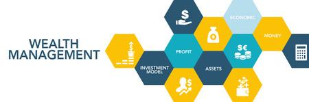 Wealth Management Icon Concept Vector Illustration