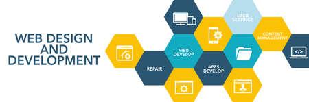 Web Des?gn And Development Icon Concept