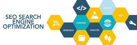 keywords link: Seo Search Engıne Optımızatıon Icon Concept Illustration