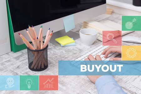 possession: BUYOUT CONCEPT Stock Photo