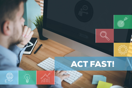 expiration: ACT FAST CONCEPT Stock Photo