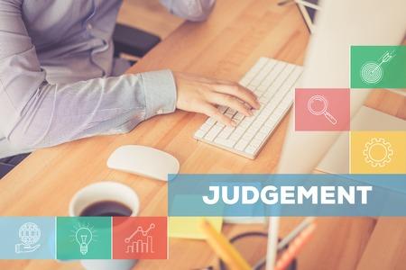 JUDGEMENT CONCEPT Stock Photo
