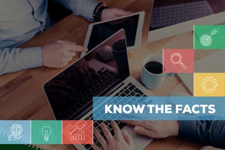 KNOW THE FACTS CONCEPT Stock Photo
