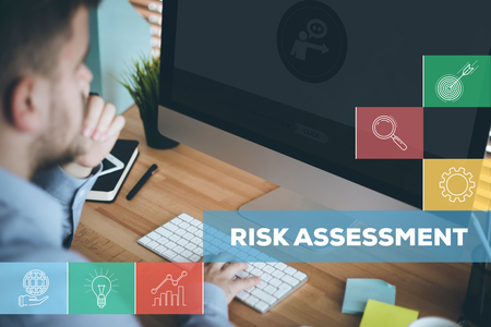 jeopardy: RISK ASSESSMENT CONCEPT Stock Photo