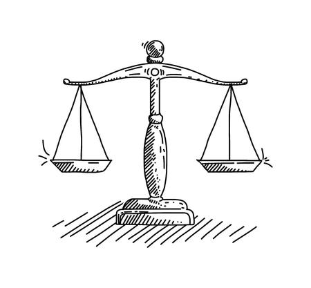 Law Concept Vector Illustratie