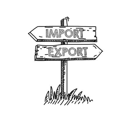 Import Export Concept Illustration