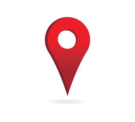 Mappa pin Vector Icon Concept