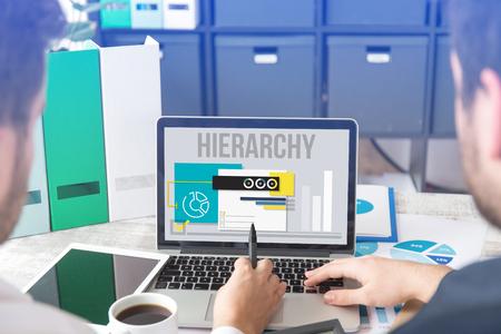 HIERARCHY CONCEPT Stock Photo