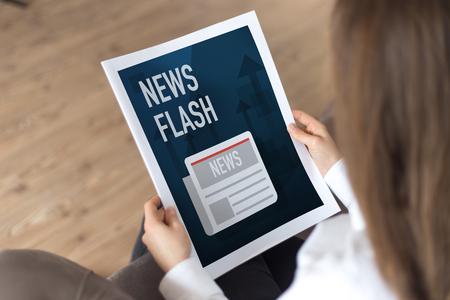 inform information: NEWS FLASH CONCEPT Stock Photo